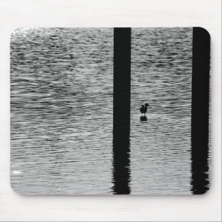 Bird standing in a lake mouse pad