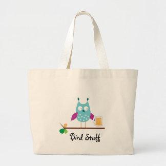 """Bird Stuff"" Jumbo Tote Bag"