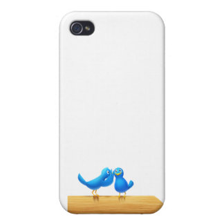 Bird talking and Twitter Cover For iPhone 4