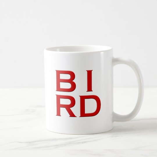 BIRD Text Art Coffee Mug