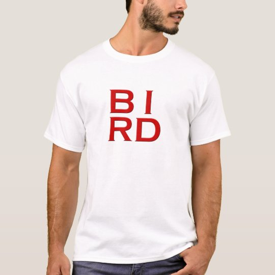 BIRD Text Art T-Shirt