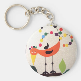 bird the colors basic round button key ring