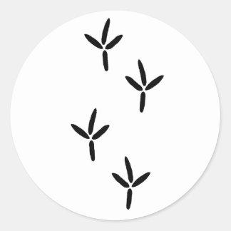 Bird Tracks (egret) Classic Round Sticker