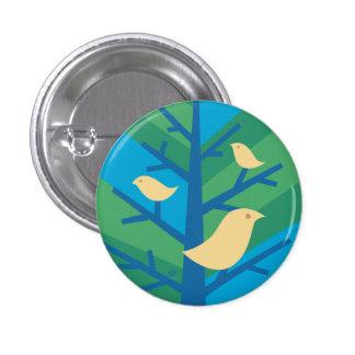 Bird Tree Mini Button