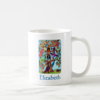 Bird Tree of Life Custom Name Coffee Mug