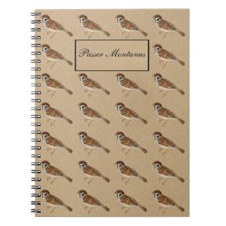 Bird - Tree sparrow - Passer Montanus Notebooks