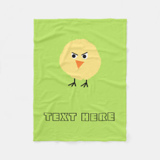 Bird Very Upset Fleece Blanket