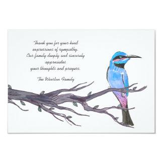 Bird Visiting. - Bereavement Thank You Notecard