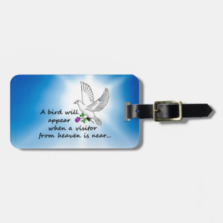Bird, Visitor from Heaven Luggage Tag