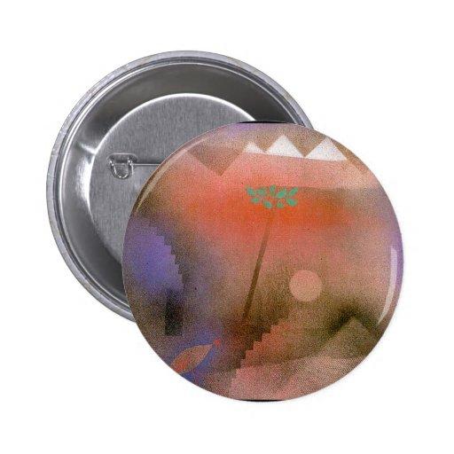 Bird Wandering Off - Paul Klee Pinback Buttons