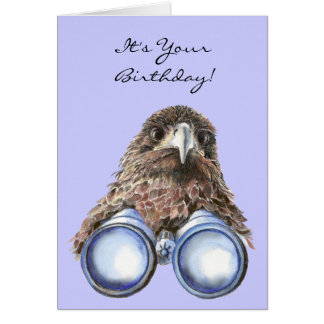 Bird Watcher Birthday Animal Humor Over the Hill Card