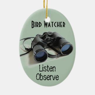 Bird Watcher Ceramic Oval Decoration