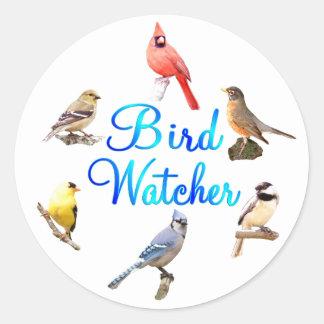 Bird Watcher Classic Round Sticker