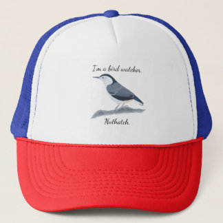 Bird Watcher Nuthatch Custom Hats