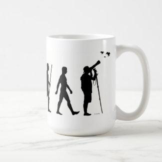 Bird watching evolution mug