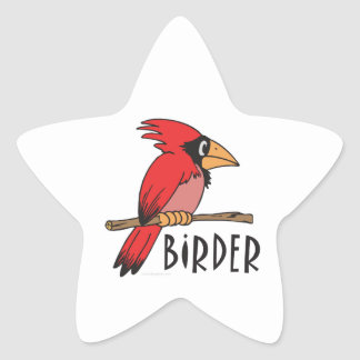Bird Watching Star Sticker