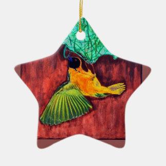 Bird Weaving Nest Ceramic Star Decoration