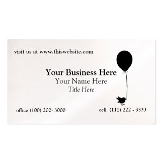 Bird with Balloon Business Cards