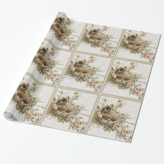 Bird With Nest Wrapping Paper