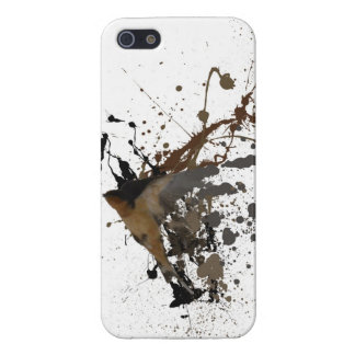 bird with splattered ink design on iphone case iPhone 5/5S case