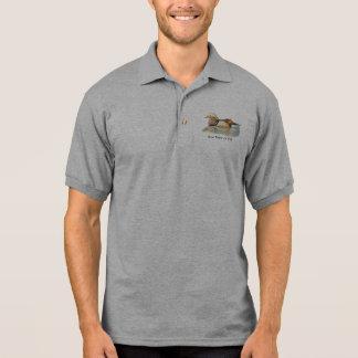Bird, Wood Duck Custom Logo Name or Business Polo T-shirt