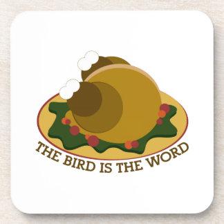 Bird Word Coaster