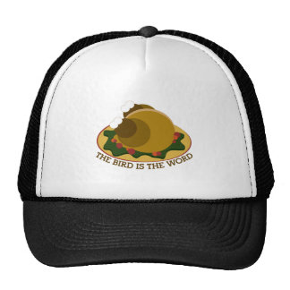 Bird Word Mesh Hats