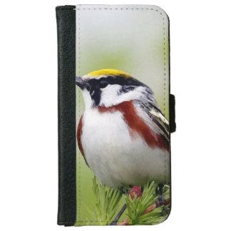 Bird yelllow founds portfolio iPhone 6 wallet case