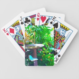 Birdbath in Key West Bicycle Playing Cards