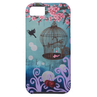 Birdcage and cherry blossoms iPhone 5 cover