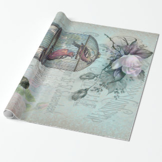Birdcage Blossom Wrapping Paper