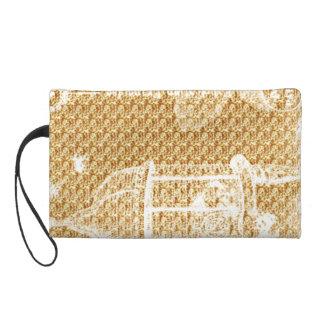 Birdcage-Golden-Vintage-Cosmetics-Travel-Sueded Wristlet