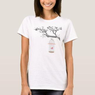 birdcage on branch tshirt