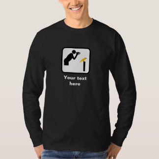 Birder / Bird Watcher (Dark) Logo -- Customizable T-Shirt