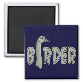 Birder Square Magnet