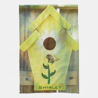 Birdhouse by Shirley Taylor Tea Towel