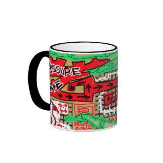birdie and bones mug blk. handle 15oz. mug