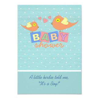 Birdie Baby Blocks Baby Shower Invitation