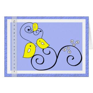 Birdie baby boy Congratulations card