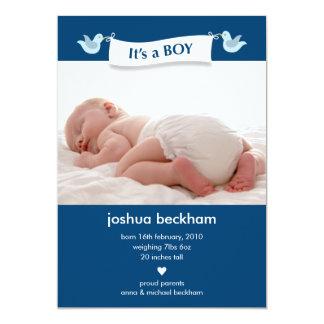 Birdie Banner Baby Photo Birth Announcement
