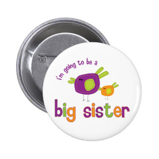birdie big sister to be 6 cm round badge