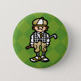 birdie button. 6 cm round badge