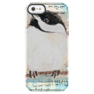 Birdie Chickadee Music Clear iPhone SE/5/5s Case