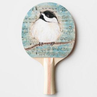 Birdie Chickadee Music Ping Pong Paddle