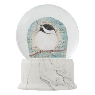 Birdie Chickadee Music Snow Globe
