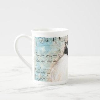 Birdie Chickadee Music Tea Cup