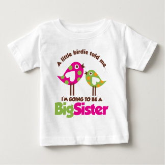 Birdie Going To Be A Big Sister Baby T-Shirt