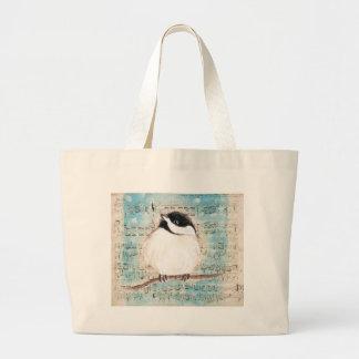 Birdie Music Song Large Tote Bag
