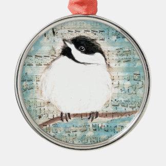 Birdie Music Song Metal Ornament
