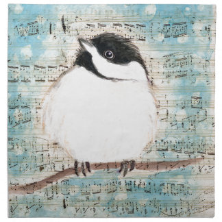 Birdie Music Song Napkin